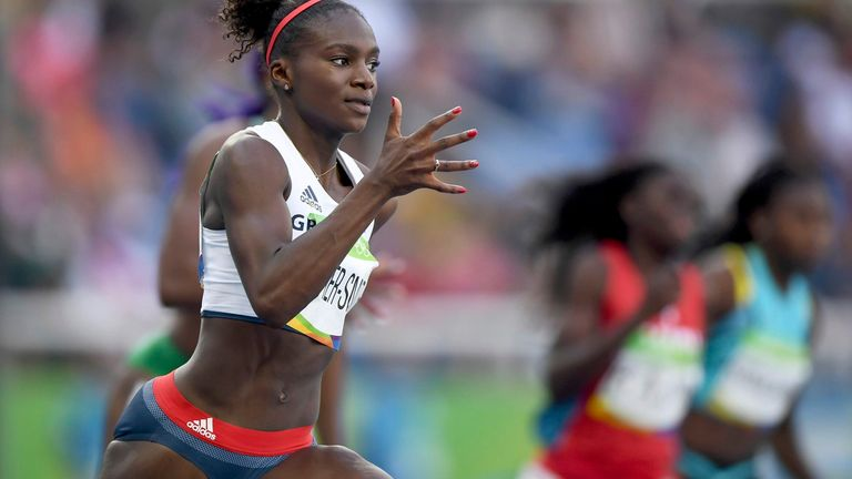 Dina Asher-Smith in Rio in 2016. Pic: AP