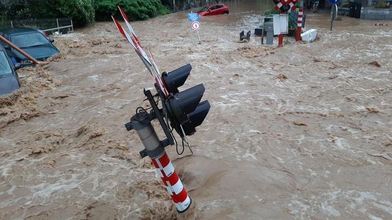 Flooding in Dinant, Belgium - stills only: CREDIT Julie Just
