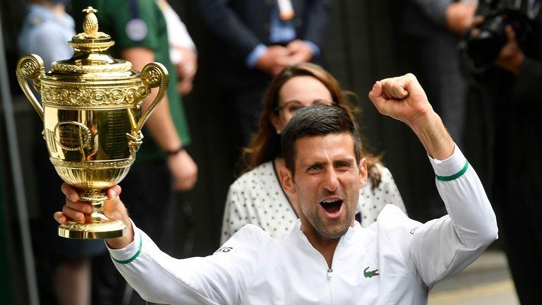 Novak Djokovic has won his sixth Wimbledon title