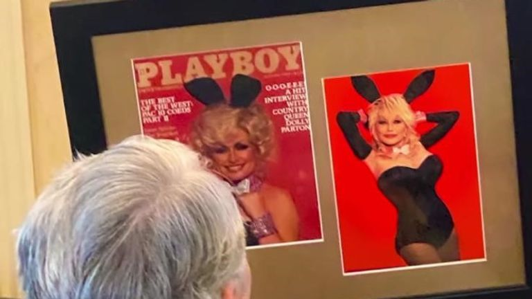 Dolly Parton surprised her husband Carl Dean with a recreated Playboy cover. Pic: @DollyParton