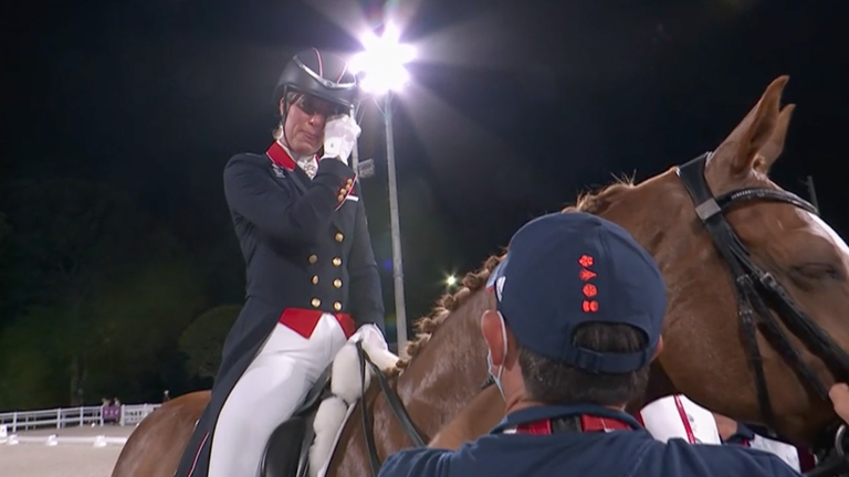 Charlotte Dujardin has become Britain's most decorated female Olympian after taking bronze in the individual dressage.