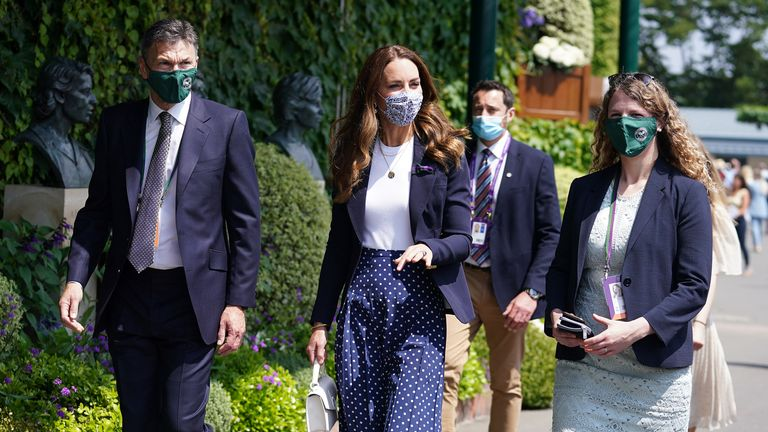 The Duchess of Cambridge was given a tour of Wimbledon