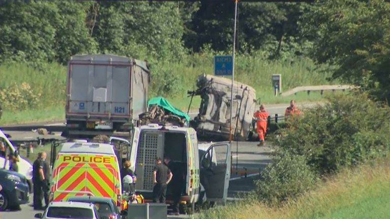 The scene of the crash in Durham