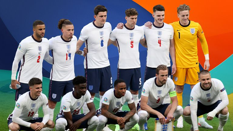England fielded a diverse team against Denmark in the semi-final