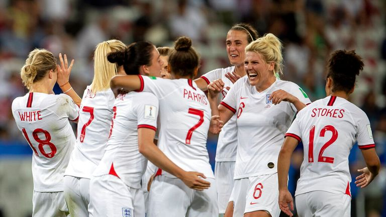 England's Lionesses came third at the 2019 World Cup in Nice. Pic: AP