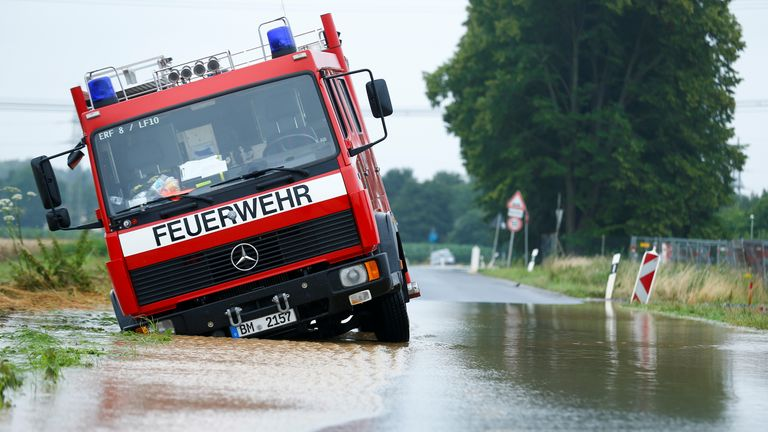 Even emergency services were stranded