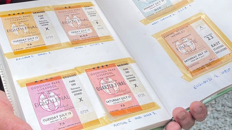 John Eaton's match tickets for 1966 World Cup