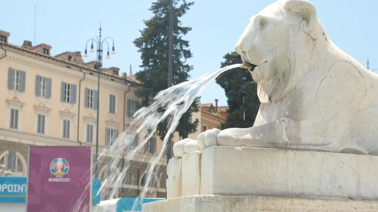England's players won't be welcomed by a raucous crowd at the Stadio Olimpico because of COVID restrictions