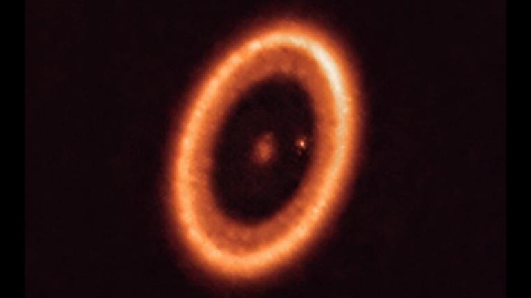 The 'Eye of Sauron' circumstellar disc around PDS 70. Pic: ESO