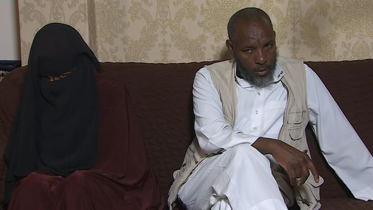 Father and mother of missing girl Fatuma from Bolton.  Mother Misra and father Asheem