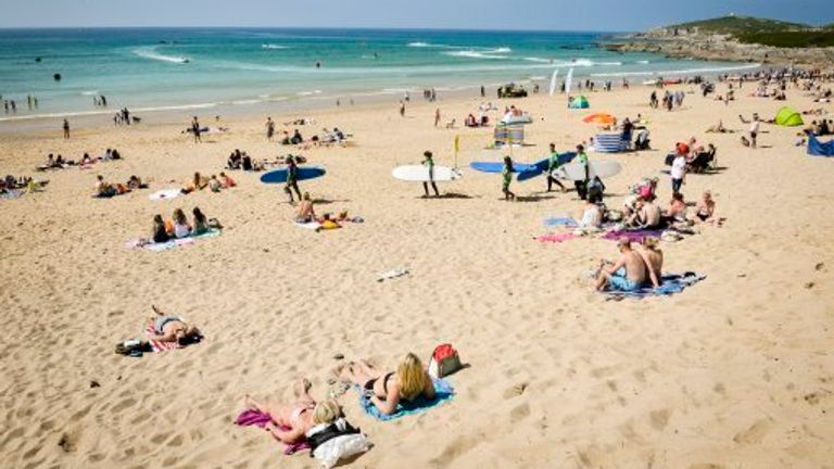 The incident happened at around 5.30pm on Thursday on Fistral Beach in Newquay