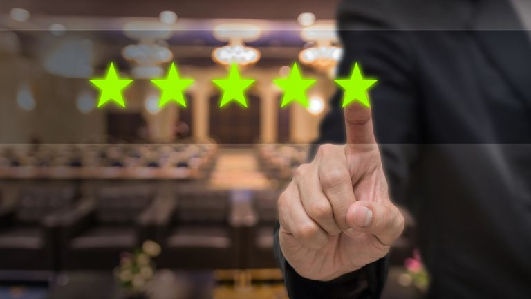 In some cases, a five-star review left online isn't what it seems. File pic