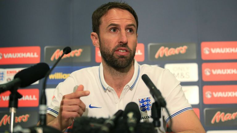 Gareth Southgate pictured during his reign as England under-21 manager