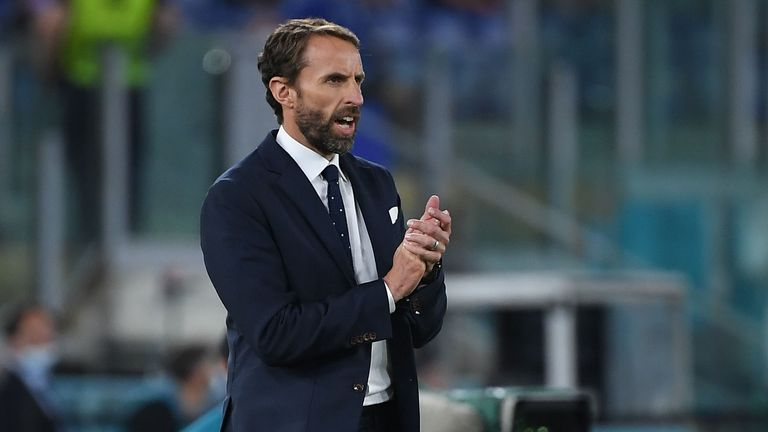 Gareth Southgate applauds his players
