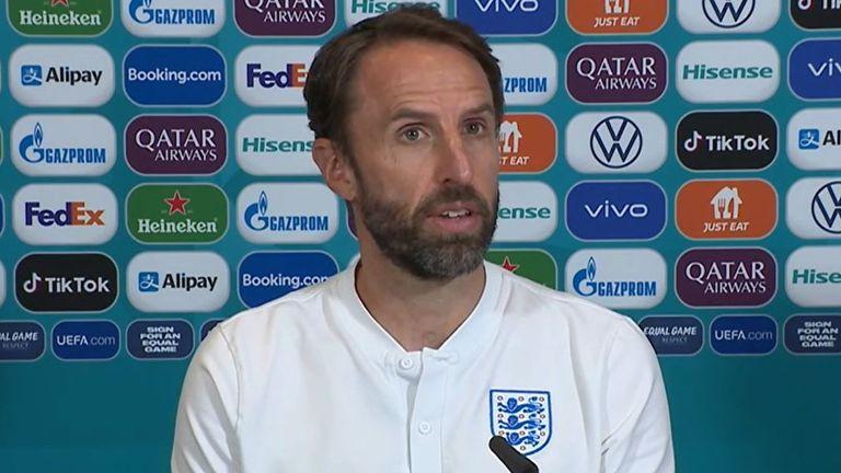 Gareth Southgate speaks to media a day before Euro 2020 semi-final
