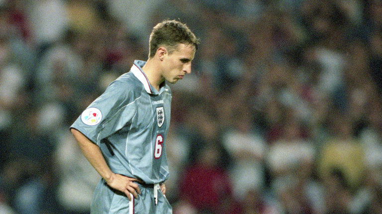 Helen was there to see Gareth Southgate's heartbreak in 1996. Pic: dpa via Associated Press