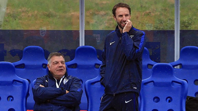 Southgate (R) replaced Sam Allardyce who had just one game in charge of England