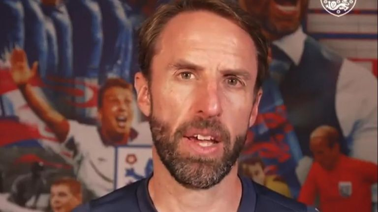 Gareth Southgate gives Twitter message