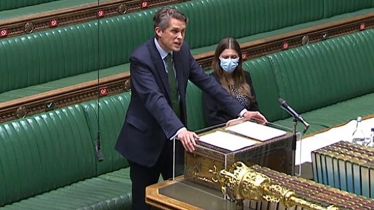 Gavin Williamson confirms lifting of COVID restrictions in schools