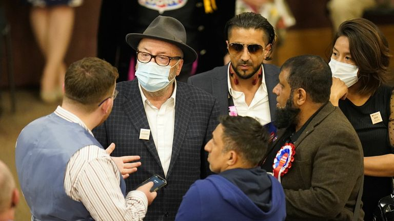 George Galloway was unhappy with the result of the election