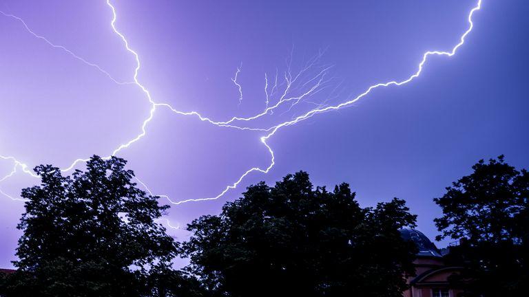 Thunder storm in Berlin. Pic: Filip Singer/EPA-EFE/Shutterstock