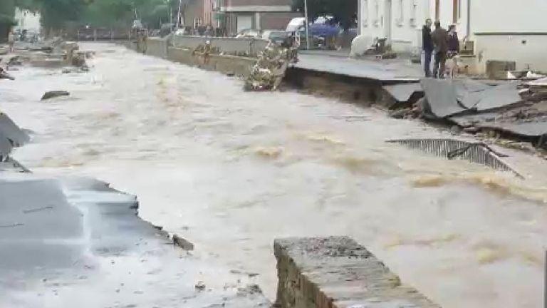 Streets in Arloff had been destroyed