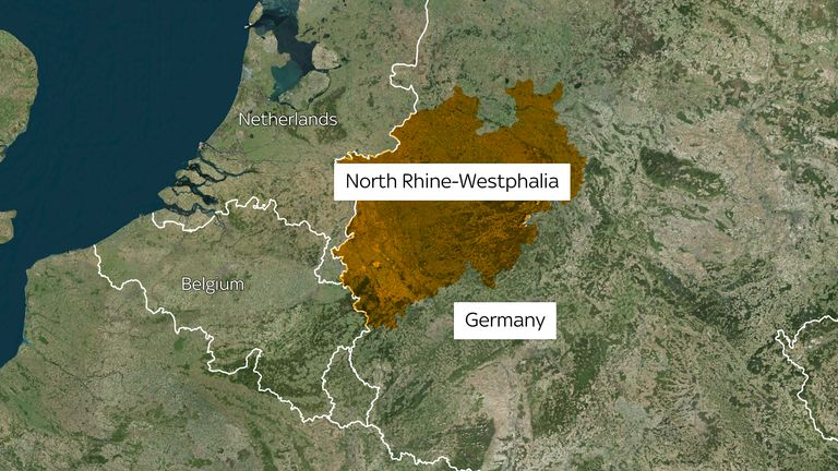 Houses have been brought down in North Rhine-Westphalia