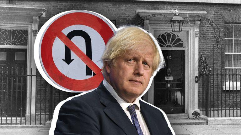 Boris Johnson U-turn graphic