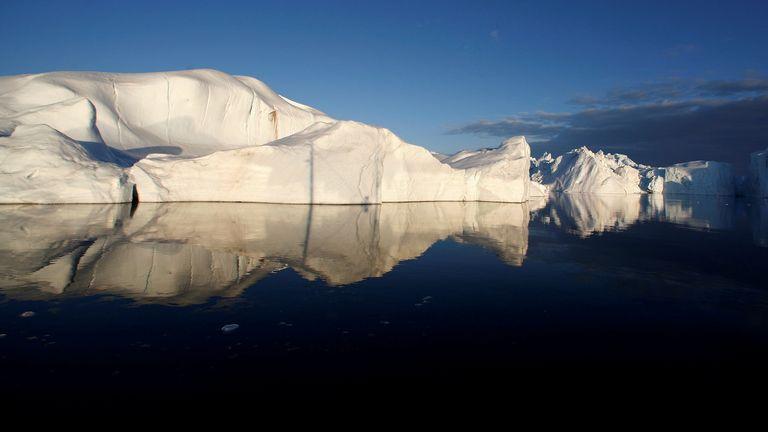 الأنهار الجليدية في جرينلاند