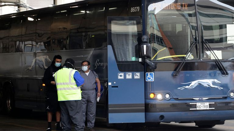 FirstGroup is still planning to sell off its Greyhound business in the US despite the shareholder battle over First Student and First Transit. Pic: AP