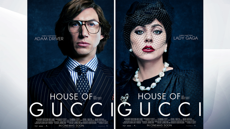 Adam Driver and Lady Gaga will be in the House Of Gucci. Pic: Universal