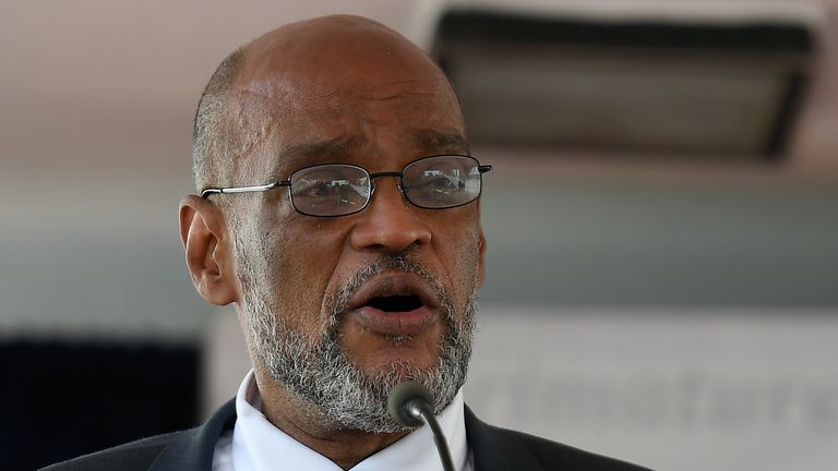 Ariel Henry called for unity after becoming Haiti's new prime minister in Port-au-Prince on Tuesday