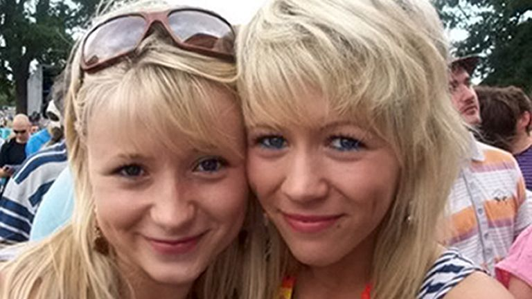 Hannah Witheridge, (left) with her sister Laura Daniels. Pic: Shutterstock