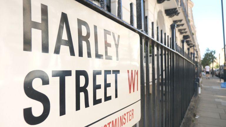 Harley Street sign from Ashish Joshi virginity testing piece
