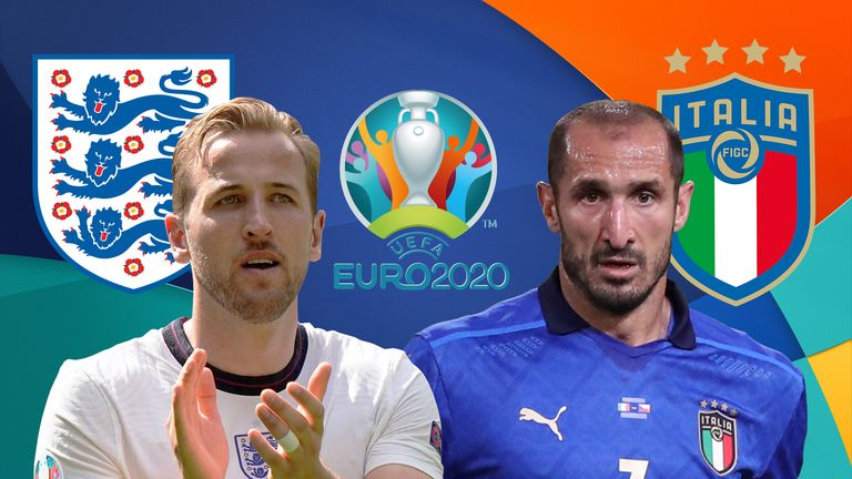 England captain Harry Kane, left, will need to get past Italy's captain Giorgio Chiellini at Wembley