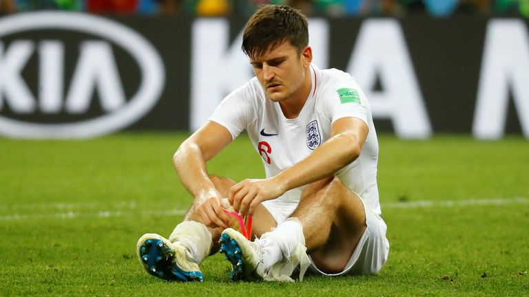 Harry Maguire after England lost the 2018 World Cup semi-final to Croatia