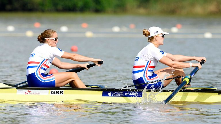 Helen Glover (left) and Polly Swann will be back on the water. Pic: AP