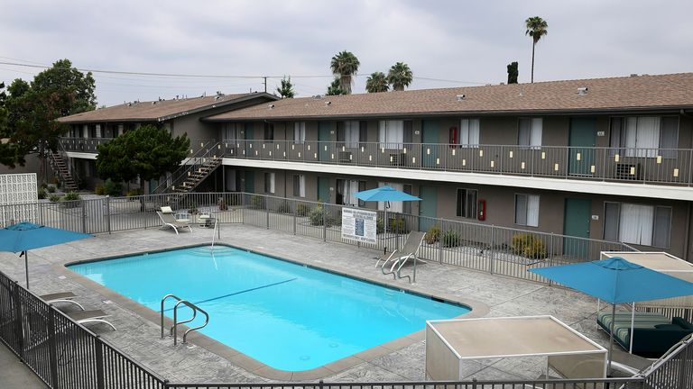 The apartments where Maria Bruno lived. Pic: Associated Press