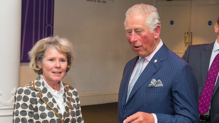 Imelda Staunton plays Prince Charles' mother in The Crown