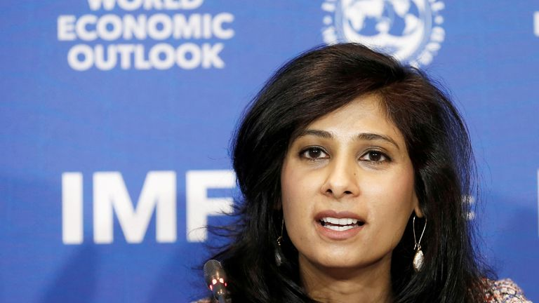 Gita Gopinath, Economic Counsellor and Director of the Research Department at the International Monetary Fund (IMF), speaks during a news conference in Santiago, Chile, July 23, 2019