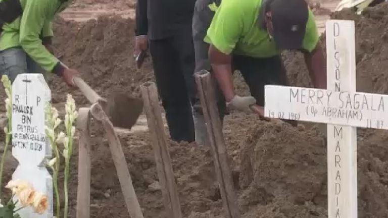 The grave diggers say they will never give up