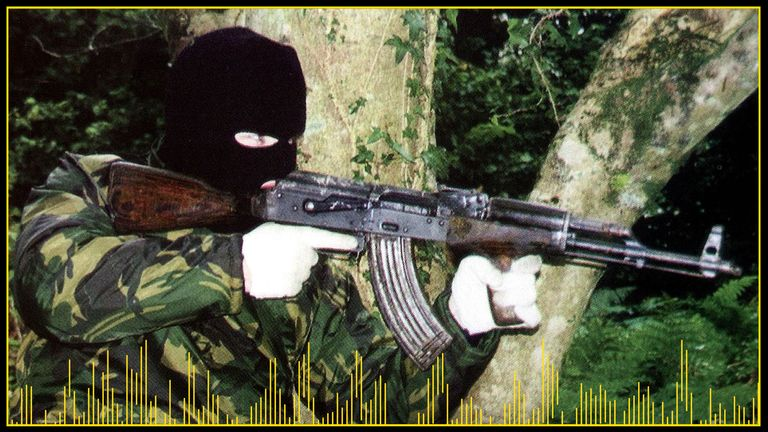The IRA had a huge arsenal of weapons that included AK47 assault rifles and surface to air missiles