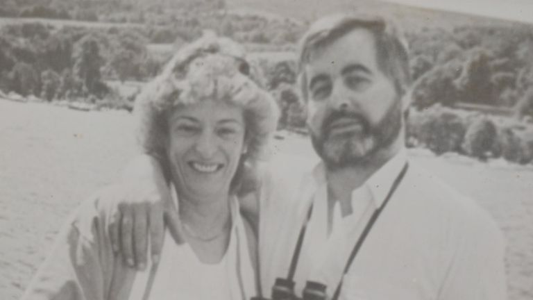 Kathleen Gillespie with her husband Patsy, who was murdered by the IRA