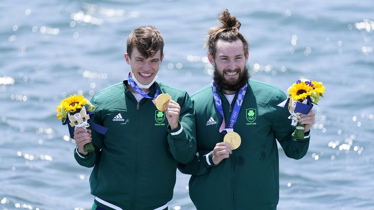 Ireland's Fintan McCarthy and Paul O'Donovan have won their country's first gold since 2012