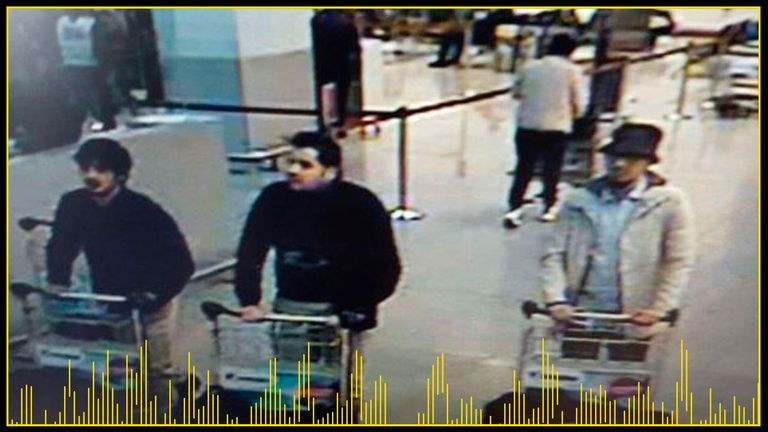 The three ISIS bombers were seen on CCTV after the blasts
