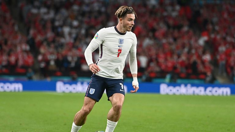 Jack Grealish came off the bench for England against Denmark