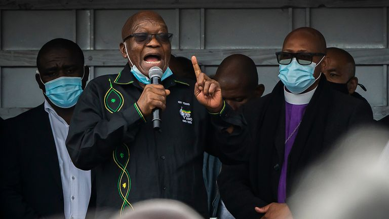 The rioting broke out after former president Jacob Zuma was jailed