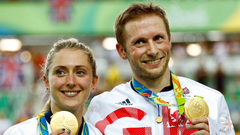 Jason and Laura Kenny are chasing more medals in Tokyo. Pic: AP