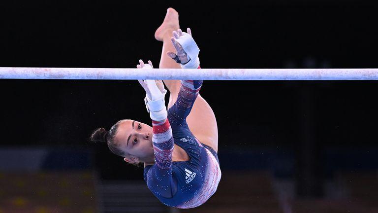 Jessica Gadirova during the women's all-around final