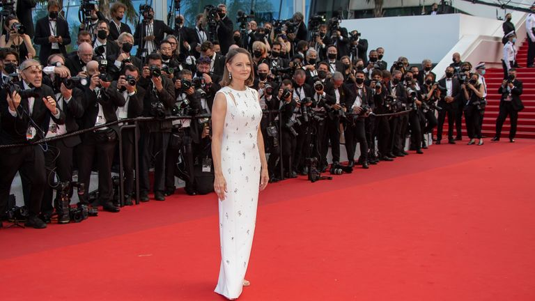 Jodie Foster attends the Annette screening and opening ceremony at the 74th annual Cannes Film Festival in July 2021. Pic: Credit: AP/imageSPACE/MediaPunch
